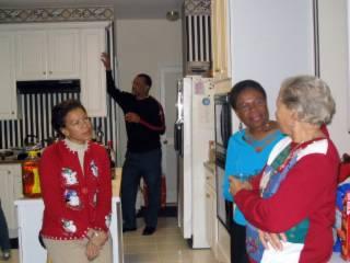 2004 Christmas Inez holds court...105_0586